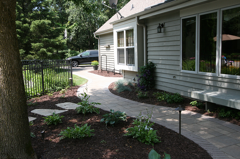 Brick Paver walkway, landscaping