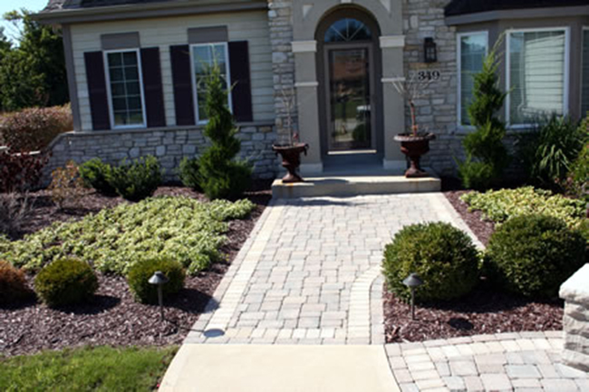 Brick Paver Patio and landscaping plantings