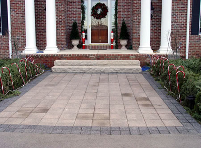 Paver Patio Entry Way