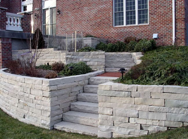 Retaining Wall, Paver Stones