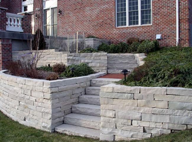 Retaining Wall, Paver Stones
